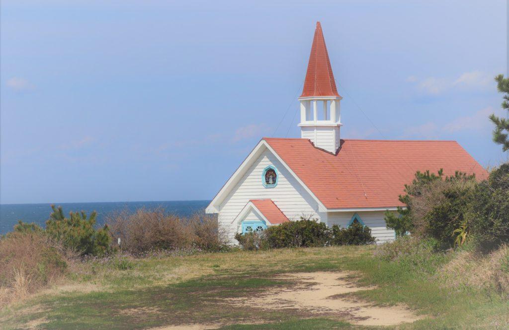 角島 映画セットで使われた教会跡