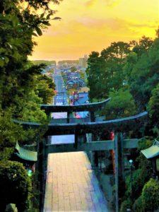 宮地嶽神社からの光の道