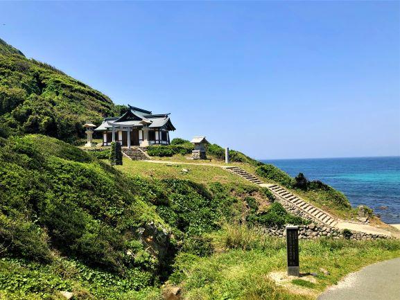 沖ノ島を臨む遥拝所