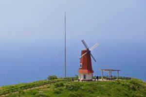 大島の絶景ポイント 風車展望所